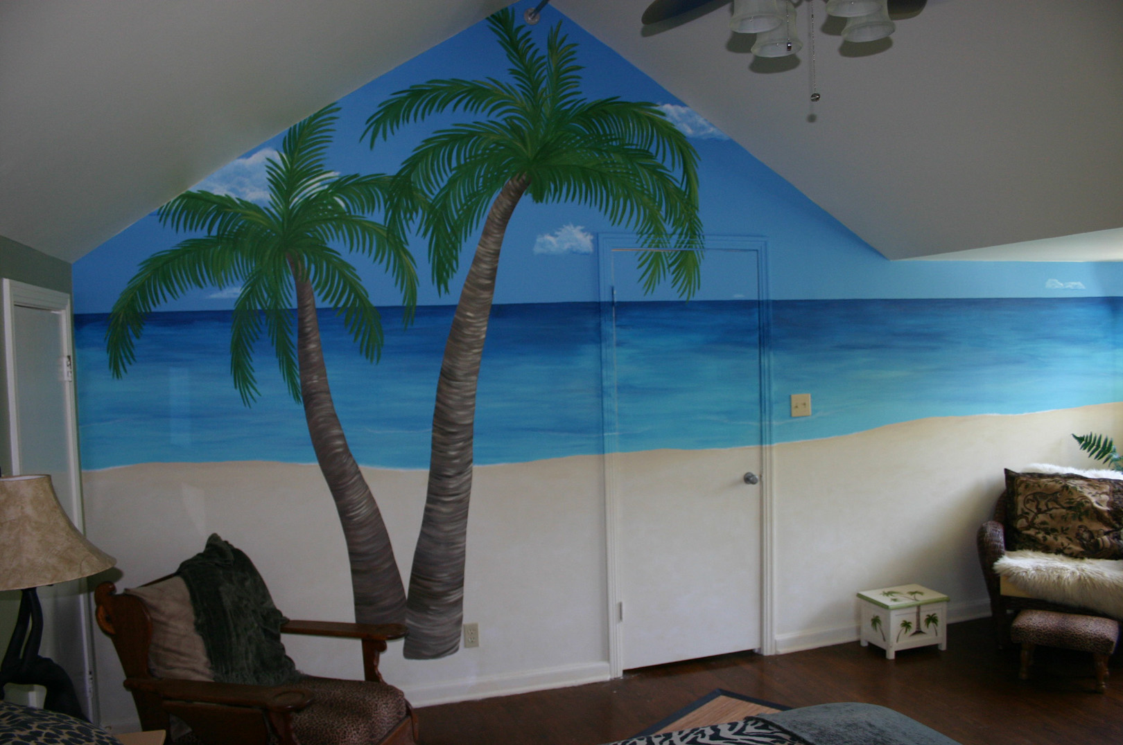 Playroom ideas on pinterest 163 pins for Beach mural painting